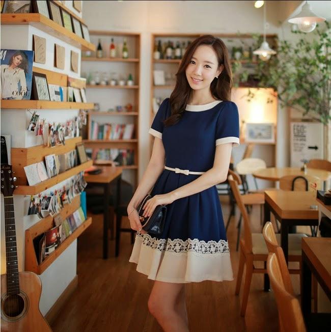 Đầm xòe đẹp Hàn Quốc hè 2015 phong cách trẻ trung cho bạn gái tung tăng dạo phố phần 9