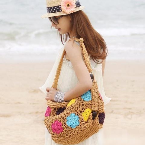 Túi cói nữ đẹp Hàn Quốc cho nàng công sở tung tăng dạo biển hè 2017 phần 10