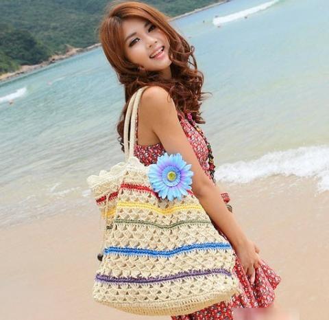 Túi cói nữ đẹp Hàn Quốc cho nàng công sở tung tăng dạo biển hè 2017 phần 20