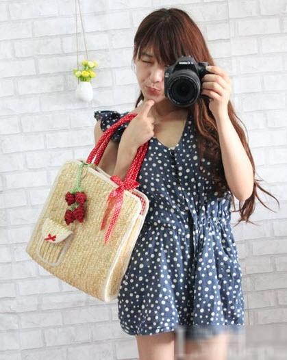 Túi cói nữ đẹp Hàn Quốc cho nàng công sở tung tăng dạo biển hè 2017 phần 21