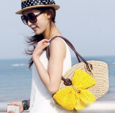 Túi cói nữ đẹp Hàn Quốc cho nàng công sở tung tăng dạo biển hè 2017 phần 3