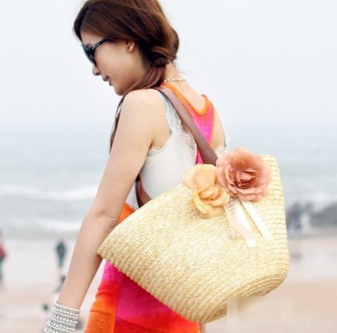 Túi cói nữ đẹp Hàn Quốc cho nàng công sở tung tăng dạo biển hè 2017 phần 5
