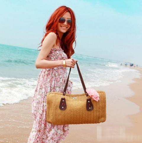 Túi cói nữ đẹp Hàn Quốc cho nàng công sở tung tăng dạo biển hè 2017 phần 8