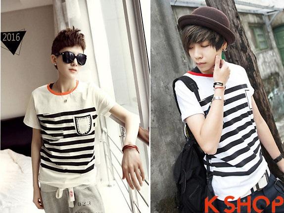 Những kiểu áo thun nam đẹp xì kul phong cách Hàn Quốc cho teenboy phần 10