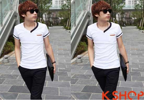 Những kiểu áo thun nam đẹp xì kul phong cách Hàn Quốc cho teenboy phần 11