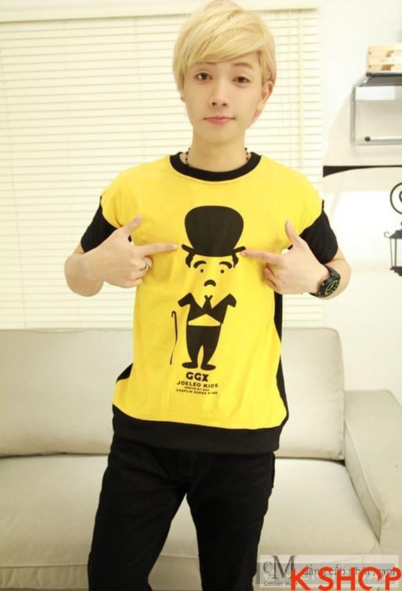 Những kiểu áo thun nam đẹp xì kul phong cách Hàn Quốc cho teenboy phần 13