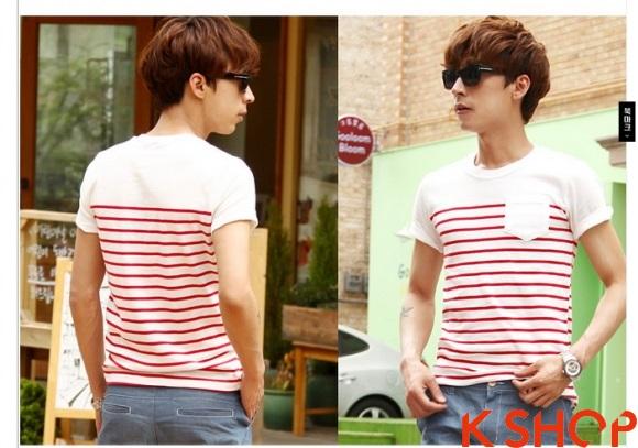 Những kiểu áo thun nam đẹp xì kul phong cách Hàn Quốc cho teenboy phần 14