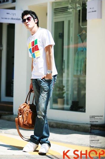 Những kiểu áo thun nam đẹp xì kul phong cách Hàn Quốc cho teenboy phần 2