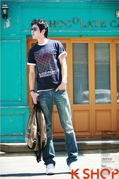 Những kiểu áo thun nam đẹp xì kul phong cách Hàn Quốc cho teenboy phần 3
