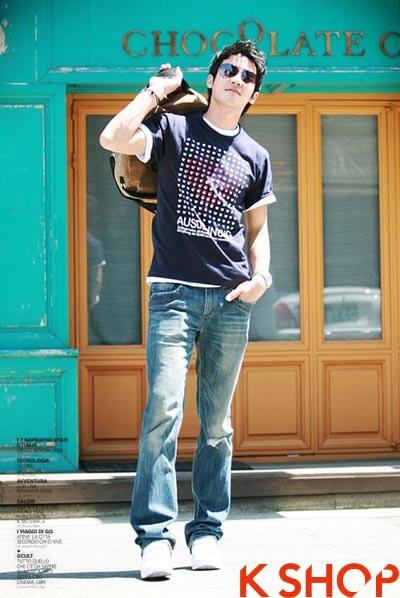Những kiểu áo thun nam đẹp xì kul phong cách Hàn Quốc cho teenboy phần 4