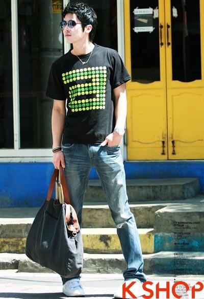 Những kiểu áo thun nam đẹp xì kul phong cách Hàn Quốc cho teenboy phần 5