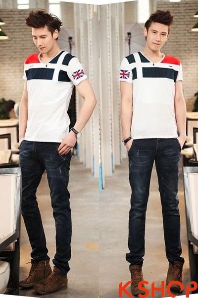 Những kiểu áo thun nam đẹp xì kul phong cách Hàn Quốc cho teenboy phần 6