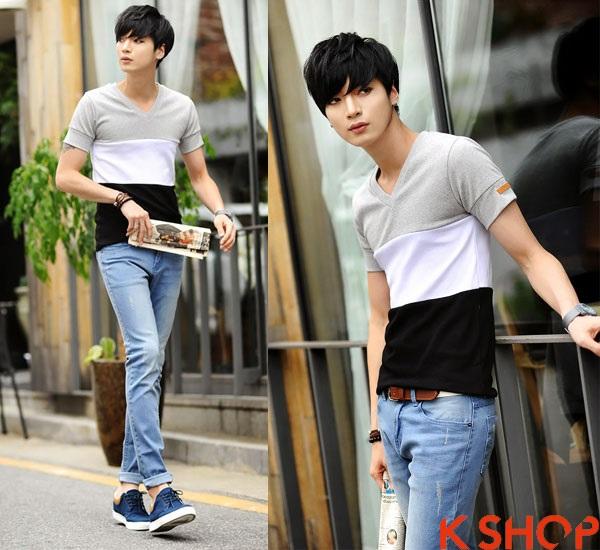 Những kiểu áo thun nam đẹp xì kul phong cách Hàn Quốc cho teenboy phần 7