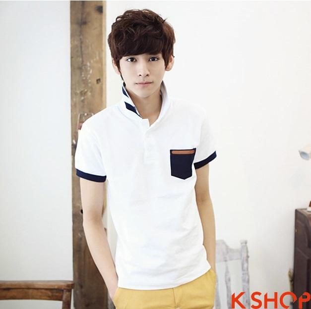 Những kiểu áo thun nam đẹp xì kul phong cách Hàn Quốc cho teenboy phần 8