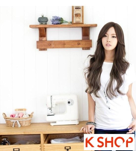 Kiểu tóc dài uốn xoăn đuôi nhẹ Hàn Quốc đẹp cho cô nàng quyến rũ 2016 phần 1