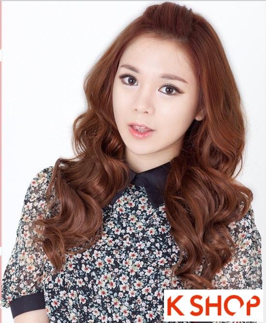 Kiểu tóc dài uốn xoăn đuôi nhẹ Hàn Quốc đẹp cho cô nàng quyến rũ 2016 phần 11