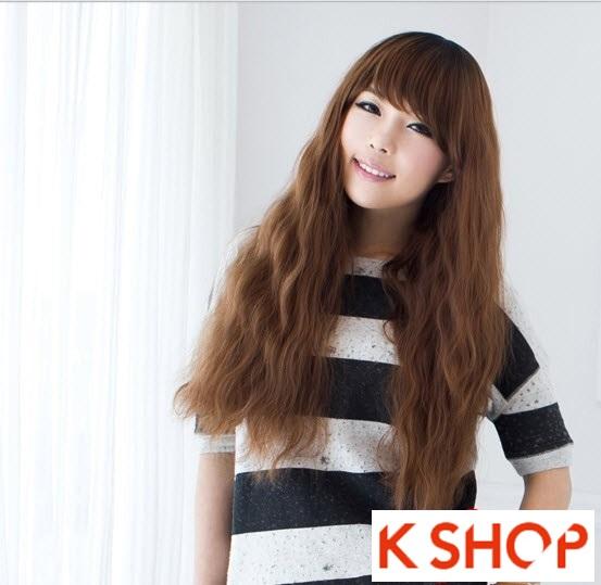 Kiểu tóc dài uốn xoăn đuôi nhẹ Hàn Quốc đẹp cho cô nàng quyến rũ 2016 phần 12