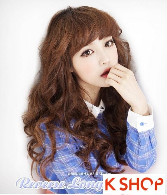 Kiểu tóc dài uốn xoăn đuôi nhẹ Hàn Quốc đẹp cho cô nàng quyến rũ 2016 phần 13