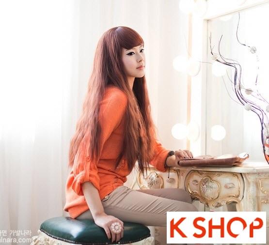 Kiểu tóc dài uốn xoăn đuôi nhẹ Hàn Quốc đẹp cho cô nàng quyến rũ 2016 phần 14