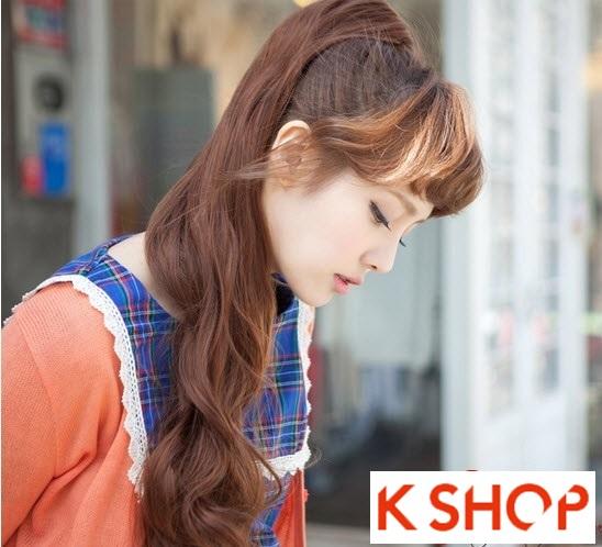 Kiểu tóc dài uốn xoăn đuôi nhẹ Hàn Quốc đẹp cho cô nàng quyến rũ 2016 phần 19