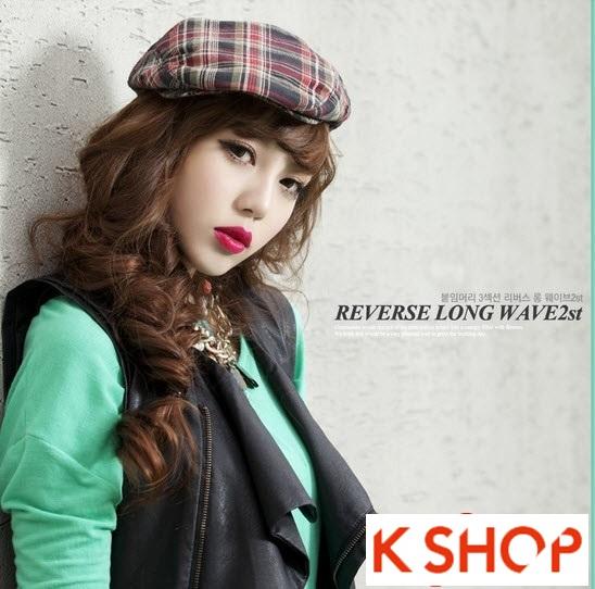 Kiểu tóc dài uốn xoăn đuôi nhẹ Hàn Quốc đẹp cho cô nàng quyến rũ 2016 phần 21