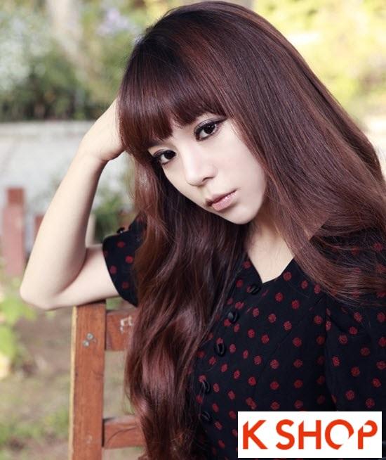Kiểu tóc dài uốn xoăn đuôi nhẹ Hàn Quốc đẹp cho cô nàng quyến rũ 2016 phần 3