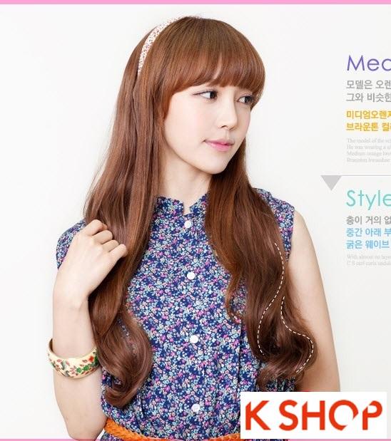 Kiểu tóc dài uốn xoăn đuôi nhẹ Hàn Quốc đẹp cho cô nàng quyến rũ 2016 phần 6