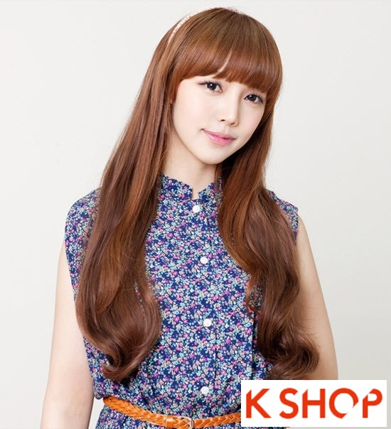 Kiểu tóc dài uốn xoăn đuôi nhẹ Hàn Quốc đẹp cho cô nàng quyến rũ 2016 phần 7