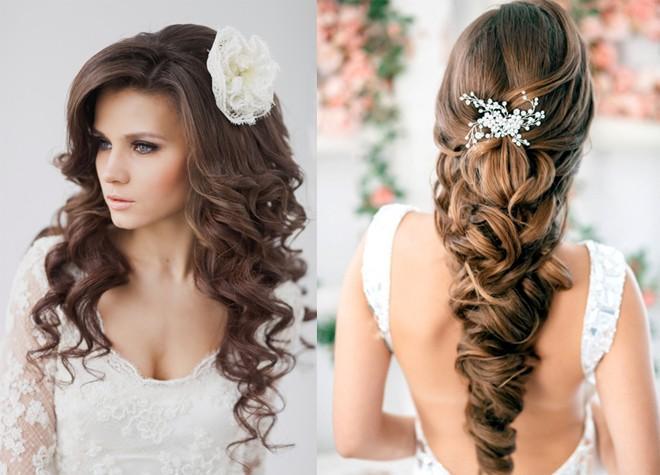 6 kiểu tóc buông dài đẹp duyên dáng nữ tính cho cô dâu ngày cưới phần 10