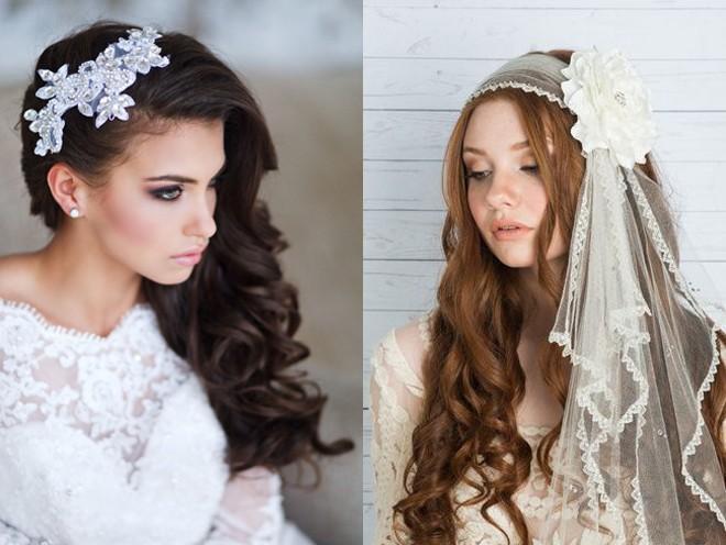 6 kiểu tóc buông dài đẹp duyên dáng nữ tính cho cô dâu ngày cưới phần 12