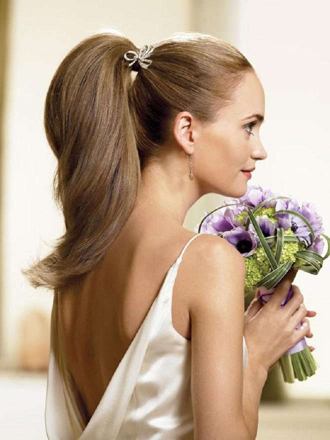 6 kiểu tóc buông dài đẹp duyên dáng nữ tính cho cô dâu ngày cưới phần 13