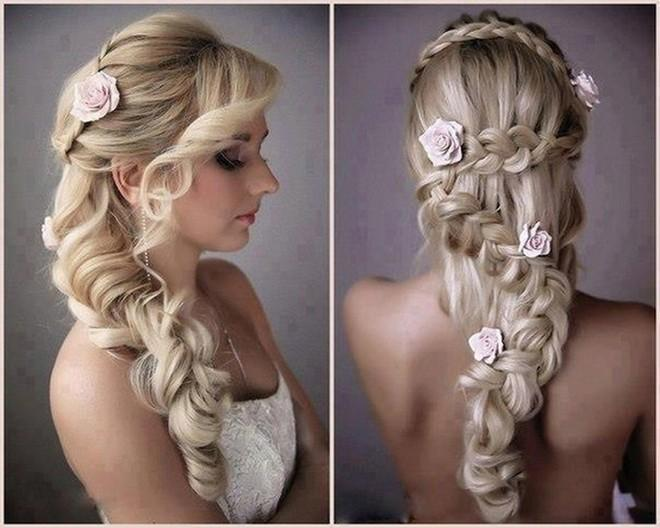 6 kiểu tóc buông dài đẹp duyên dáng nữ tính cho cô dâu ngày cưới phần 2