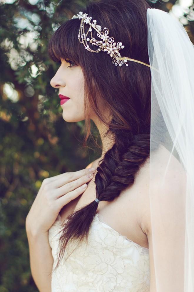 6 kiểu tóc buông dài đẹp duyên dáng nữ tính cho cô dâu ngày cưới phần 3