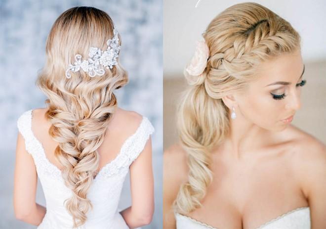 6 kiểu tóc buông dài đẹp duyên dáng nữ tính cho cô dâu ngày cưới phần 5