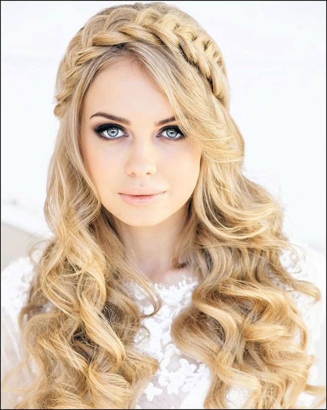 6 kiểu tóc buông dài đẹp duyên dáng nữ tính cho cô dâu ngày cưới phần 6