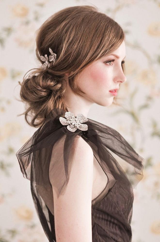 6 kiểu tóc buông dài đẹp duyên dáng nữ tính cho cô dâu ngày cưới phần 8