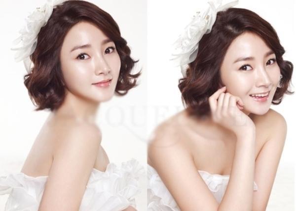 9 kiểu tóc Hàn Quốc đẹp đơn giản quyến rũ dành cho cô dâu hè 2015 phần 4