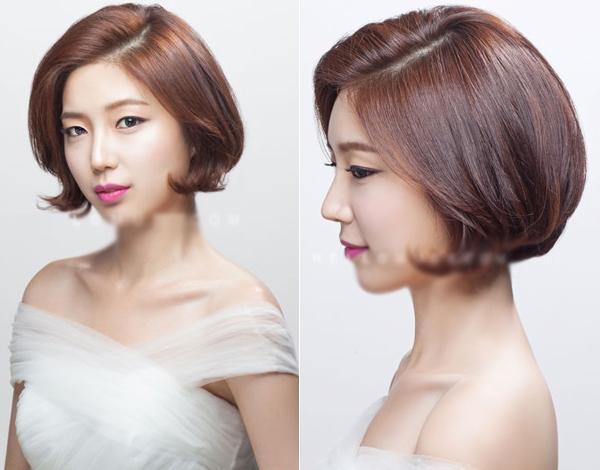 9 kiểu tóc Hàn Quốc đẹp đơn giản quyến rũ dành cho cô dâu hè 2015 phần 5