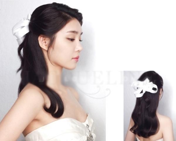 9 kiểu tóc Hàn Quốc đẹp đơn giản quyến rũ dành cho cô dâu hè 2015 phần 6