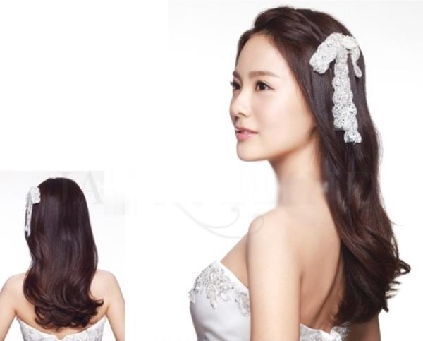 9 kiểu tóc Hàn Quốc đẹp đơn giản quyến rũ dành cho cô dâu hè 2015 phần 7