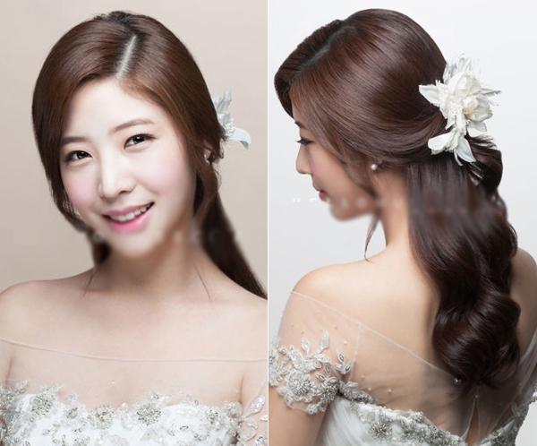9 kiểu tóc Hàn Quốc đẹp đơn giản quyến rũ dành cho cô dâu hè 2015 phần 8