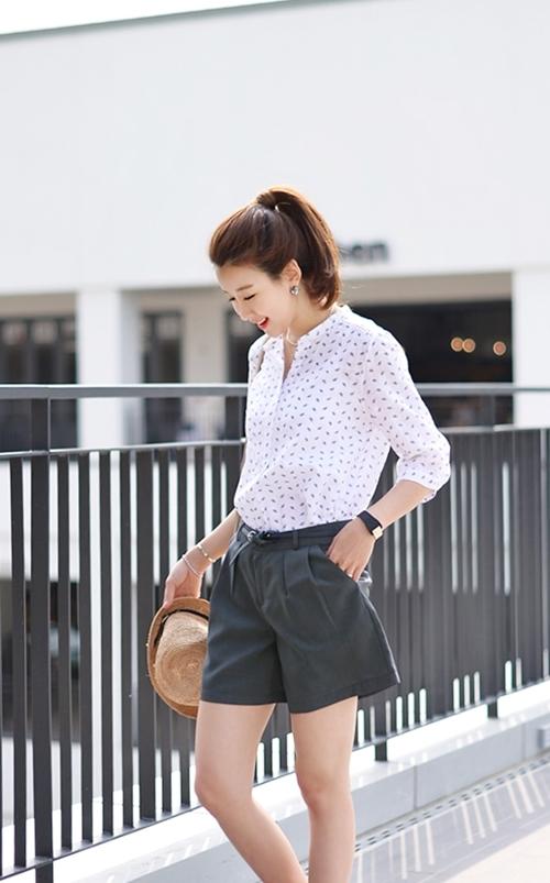 Áo sơ mi nữ dáng rộng Hàn Quốc đẹp cho nàng công sở trẻ trung hè 2017 phần 7