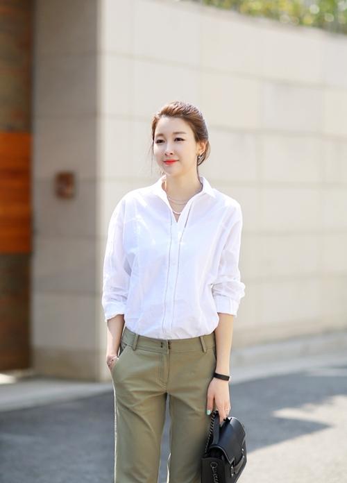 Áo sơ mi nữ dáng rộng Hàn Quốc đẹp cho nàng công sở trẻ trung hè 2017 phần 9