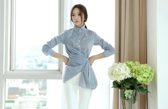 Áo sơ mi nữ cách điệu Hàn Quốc đẹp món đồ theo chân nàng ở khắp mọi nơi phần 1