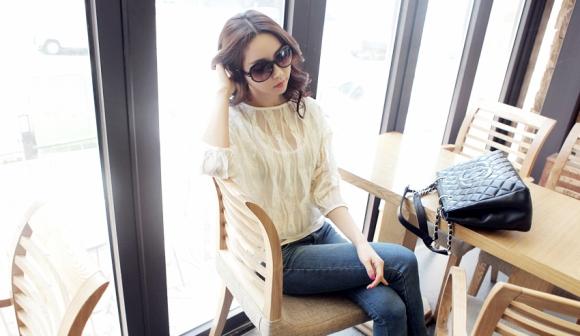 Áo sơ mi nữ cách điệu Hàn Quốc đẹp món đồ theo chân nàng ở khắp mọi nơi phần 13