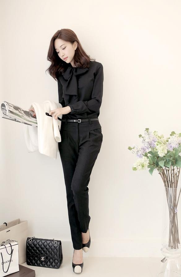 Áo sơ mi nữ cách điệu Hàn Quốc đẹp món đồ theo chân nàng ở khắp mọi nơi phần 14