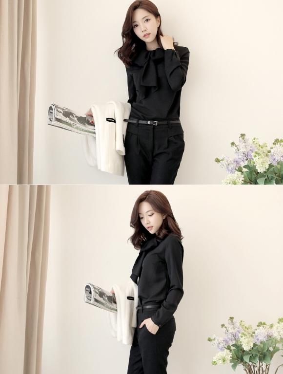 Áo sơ mi nữ cách điệu Hàn Quốc đẹp món đồ theo chân nàng ở khắp mọi nơi phần 15