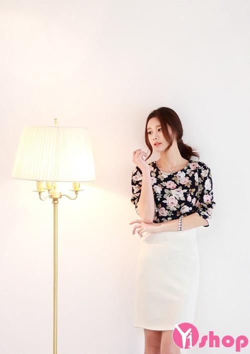 Áo sơ mi nữ voan họa tiết đẹp nhất hè 2017 thiết kế cực trẻ trung cá tính phần 14