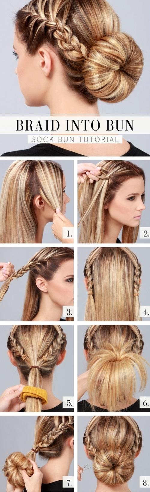 Hướng dẫn cách làm những kiểu tóc búi giản dị cực dễ thương chống nóng hè hiệu quả phần 1