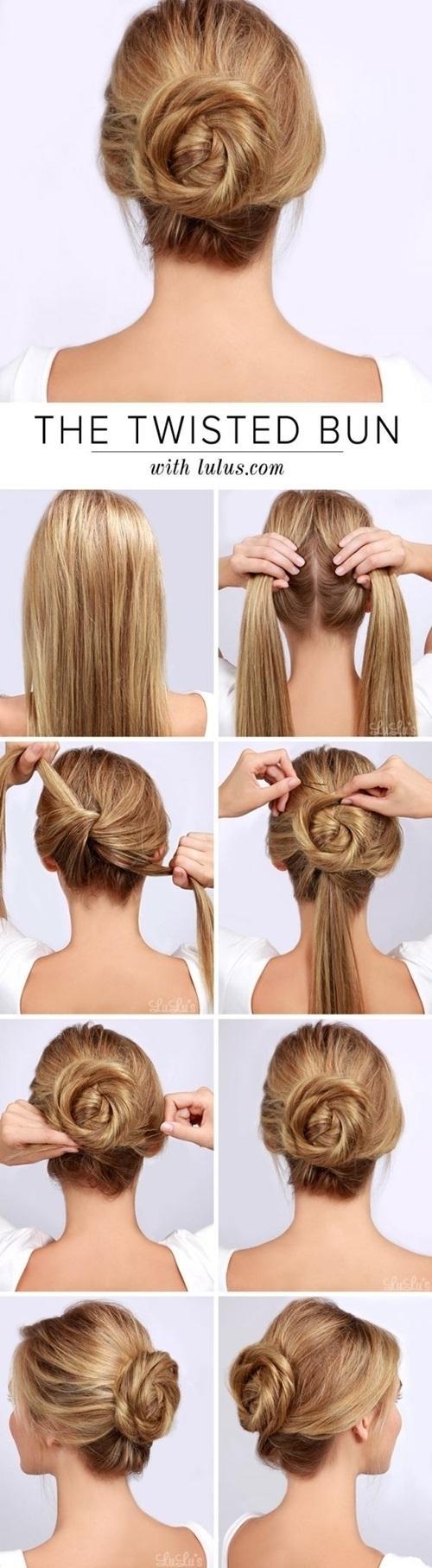 Hướng dẫn cách làm những kiểu tóc búi giản dị cực dễ thương chống nóng hè hiệu quả phần 2